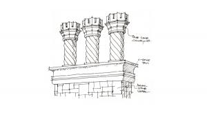 CHARRETT文化 – 设计手稿图-柱式